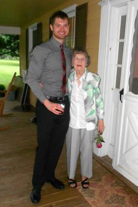 My Sweet Nana with Jared About a Month Before She Died (At My Cousin's Wedding)