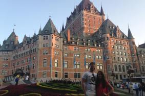 Our amazing castle-like hotel in Quebec City