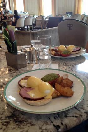 Amazing breakfast at The Plaza