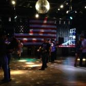 Line dancing at the country bar!