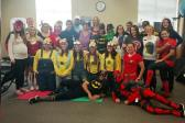 Halloween at the clinic - superheroes and Minions