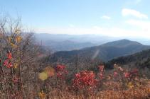 Fall colors on our drive up the Parkway in October