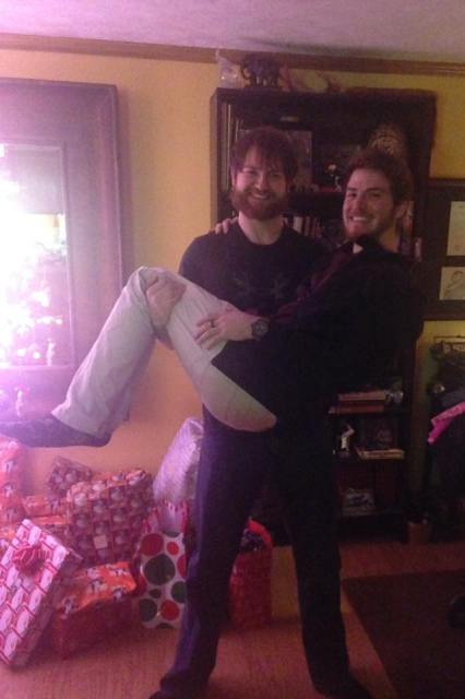 Jared & his brother's annual pic