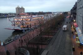 River Street in Savannah, view from our hotel