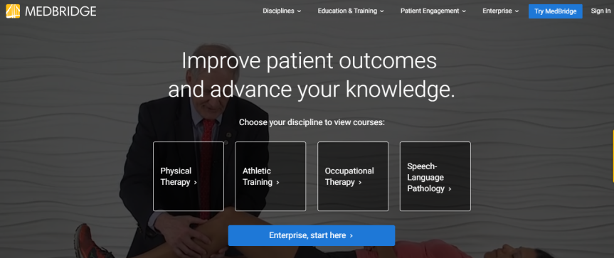 Partnering with Medbridge: An online CEU resource for PTs, OTs, SLPs, and ATCs