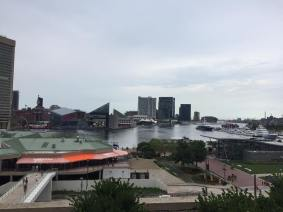 View of the Inner Harbor from our hotel
