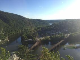 MD Heights Hike - Overlooking Harpers Ferry
