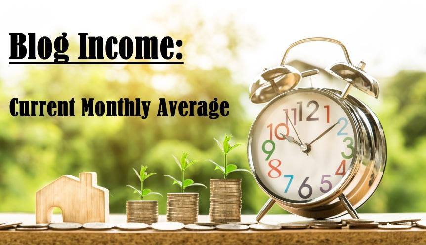 Blog Income: Current MonthlyAverage