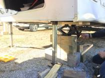 Wood Blocking & Jacking The Camper Up