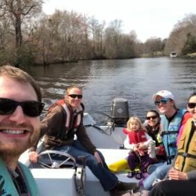Boating on the Trent River