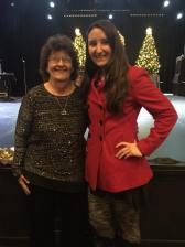 My Mom and I at a Christmas Show