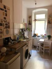 Airbnb kitchen including washing machine