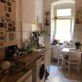 Airbnb kitchen including washing machine