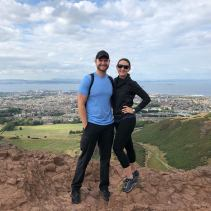 Top of Arthur's Seat overlooking Edinburgh