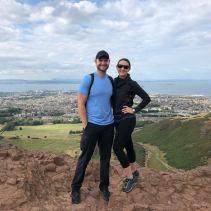 Top of Arthur's Seat overlooking Edinburgh