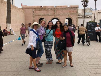 Girls in Essaouira at the Market