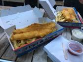 Dinner of fish and chips!