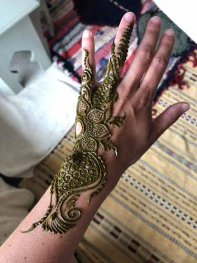 Henna tattoo on my hand