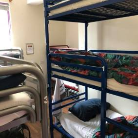 Bedroom with 9 beds for some reason but only ever slept 8