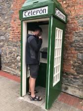 Broken phonebooth