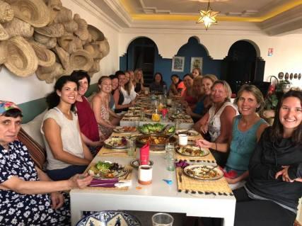 Ladies at dinner