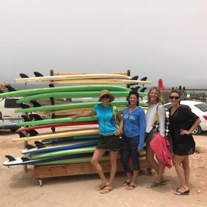 Girls after surfing!