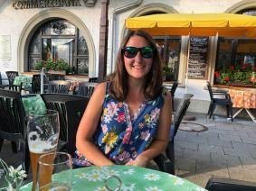 Eating dinner in Garmisch!
