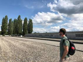 Reflecting on the concentration camp memorial