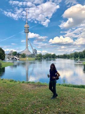 Beautiful Olympic Park in Munich
