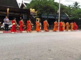 Buddhist Monks in their Procession