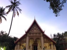 Beautiful temple at sunset