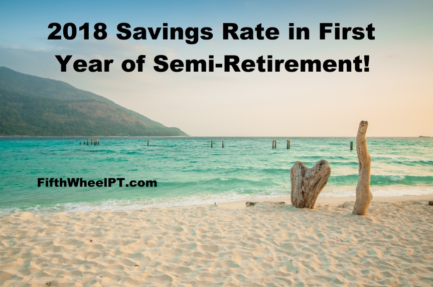 2018 Savings Rate in First Year of Semi-Retirement!