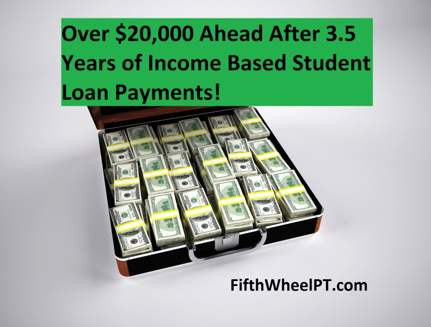 Over $20,000 Ahead After 3.5 Years of Income Based Student Loan Payments