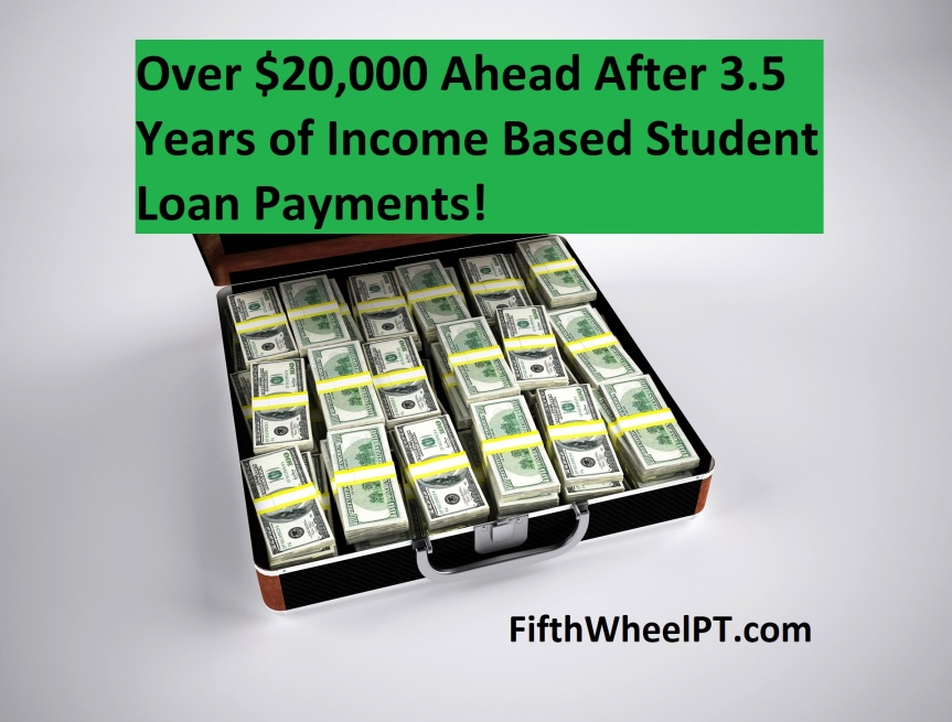 Over $20,000 Ahead After 3.5 Years of Income Based Student LoanPayments