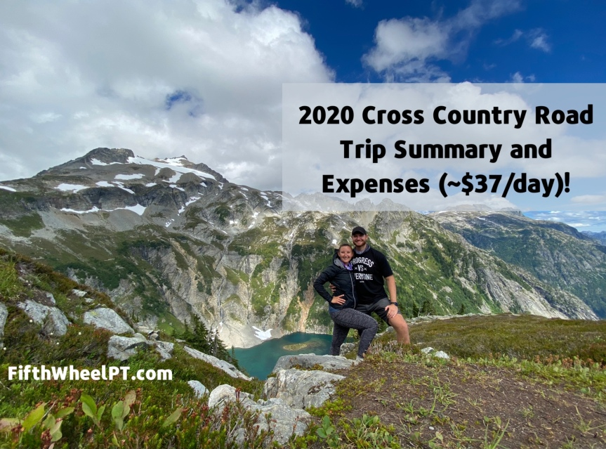 2020 Cross Country Road Trip Summary and Expenses(~$37/day!)